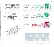 Lot De 3 PAP Pret à Poster  Lettre Verte Feuille  20g Et Prio Rouge France 20g (14U337, 14U109, 14U108A) - Entiers Postaux