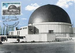 D34969 CARTE MAXIMUM CARD TRIPLE 1974 BELGIUM - PLANETARIUM BRUSSELS CP ORIGINAL - Astronomy