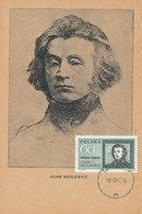 D34972 CARTE MAXIMUM CARD 1962 POLAND - MICKIEWICZ POET CP ORIGINAL - Writers