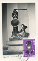 D34973 CARTE MAXIMUM CARD 1965 POLAND - STATUE SYRENA MERMAID WARSZAWA CP ORIGINAL - Monuments