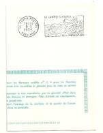 MEURTHE & MOSELLE - Dépt N° 54 = PONT-A-MOUSSON 1975 = FLAMME PREMIER  JOUR = SECAP Illustrée  ' PREMONTRES / Culturel ' - Oblitérations Mécaniques (flammes)