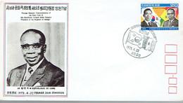 """FDC Du Timbre """"State Visit Of Leopold Senghor"""" Du 22/4/1979 - Corée Du Sud"""