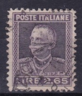 LOTTO REGNO A66  VITTORIO EMANUELE III 2,65 LIRE DEL 1927 - Usati