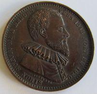 M02053  SIMON STEVIN NE A BRUGES - 1548 - 1620 Son Profil (14g)  Ses Ouvrages Et Ses Découvertes... Au Revers - Professionnels / De Société