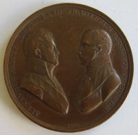 M02056  ALEXANDER KAISERVON RUSSLAND WILHEIM KOENING VON PREUSSEN - Leurs Bustes (34g)  Berlin 1805 Au Revers - Royal/Of Nobility