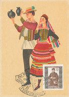 D34976 CARTE MAXIMUM CARD 1967 POLAND - FOLKLORE COSTUMES CP ORIGINAL - Costumes