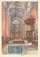 D34977 CARTE MAXIMUM CARD 1958 VATICAN - BASILICA MARIAZELL ALTAR CP ORIGINAL - Christianity