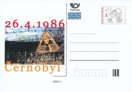 Czech Rep. / Postal Stat. (Pre2011/19) 25th Anniversary Of The Nuclear Reactor Accident At Chernobyl (1986) - Entiers Postaux