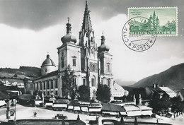 D34978 CARTE MAXIMUM CARD 1958 VATICAN - BASILICA MARIAZELL CP ORIGINAL - Churches & Cathedrals