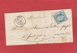 Aveyron - Espalion - PC 1197 Sur N°14 - LAC 21/08/1858 - Marcophilie (Lettres)