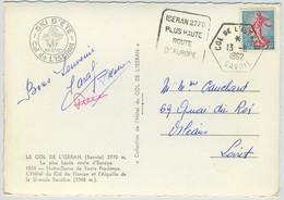 Cachet Daguin. Col De L'Iseran. - Poststempel (Briefe)