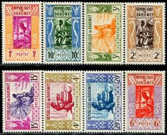 AC1124 Dahomei 1961 Aboriginal Handicraft Pottery And Other 8V MNH - Timbres
