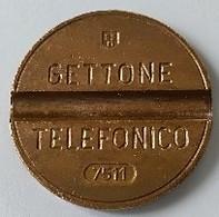 Jeton De Téléphone - GETTONE - TELEFONICO - N° 7511 - Italie - - Professionnels/De Société