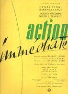 Dossier De Presse Cinéma. Action Immédiate De M.Labro Avec Henri Vidal, Barbara Laage, Jacques Dacqmine, N.Maurey. - Cinema Advertisement