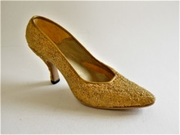 CHAUSSURE MINIATURE COLLECTION GOLDEN STILETTO JUST THE RIGHT SHOE - Other