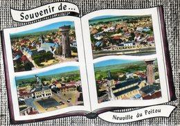 CPSM Dentelée - NEUVILLE-en-POITOU (86) -Carte De Multi-vues Aériennes Au Livre Ouvert Où Album-photos Ouvert De 1962 - Neuville En Poitou