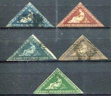 CABO De BUENA ESPERANZA    Nº 2 , 4 , 6 , 8  Usados- Nº 3  Charnela -377 - Cape Of Good Hope (1853-1904)
