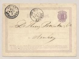 Nederland - 1874 - 2,5 Cent Wapen, Briefkaart G4 Van TL Harderwijk Naar TL Arnhem - Postal Stationery