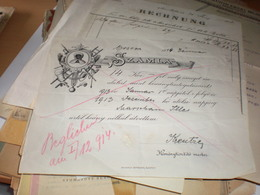 Orsova  Szamla Chimney Sweep 1914 - Invoices & Commercial Documents