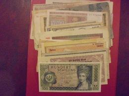 EUROPE JOLI VRAC DE 37 BILLETS LA PLUPART BONNE QUALITE ! - Coins & Banknotes
