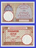 Marocco 5  Francs 1922 - REPLICA --  REPRODUCTION - Maroc