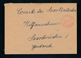 Saarland -Vorläufer  -Heimat Beleg...Gebühr Bezahlt ... (oo4987  ) Aus Einer Spezial Sammlung ! - Saargebiet