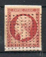 N°17 OBLITERE SUR FRAGMENT POINTILLE Cote 80 Euros Net 15 Euros - 1853-1860 Napoléon III