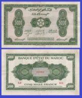 Marocco 5000  Francs 1943 - REPLICA --  REPRODUCTION - Maroc