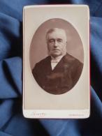 Photo CDV  Luzzato à Dunkerque  Portrait Homme âgé Portant Des Favoris - CA 1880 - L389H - Ancianas (antes De 1900)
