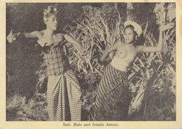 °°°   BALI . MALE AND FEMEL DANCER    °°°   ////   REF  SEPT.  18 / N° 7214 - Indonesien
