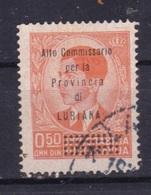 LOTTO REGNO A94 20 DIN ALTO COMMISSARIATO DELLA PROVINCIA DI LUBIANA USATO - 9. Occupazione 2a Guerra (Italia)