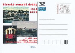 Rep. Ceca / Cart. Postali (Pre2012/50) Ferrovie Provinciali Della Slesia (tram), 100 Anni Dall'inizio Dell'attività - Fabbriche E Imprese