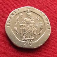 Gibraltar 20 Pence 1999 AA KM# 777  Gibilterra - Gibilterra