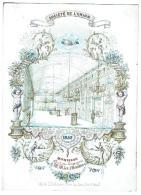 Société De L'Union 1852 Hommage Offert Par Les Garçons à M.M. Les Membres / Lith. De L. Defferrez, Place Du Lion D'Or 3 - Publicité