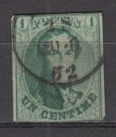 BELGIE 1861   OBP  9,used,see Scan      [1833  ] - 1858-1862 Medallions (9/12)