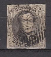 BELGIE 1861   OBP  10 B  ,used,see Scan      [1834  ] - 1858-1862 Medaillen (9/12)