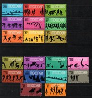 Mexico Olympic Games 1967-8 Two Complete Sets Including The Airmail MH (293) - México