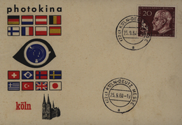 Sonderkarte Photokina Foto Ausstellung Messe Köln Stempel Deutz Messe 25.9.1960 - Fotografie