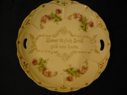 Brot-Teller Mit Spruch In Gold (606) - Porzellan & Keramik
