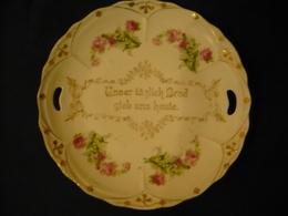 Brot-Teller Mit Spruch In Gold (606) - Ceramics & Pottery