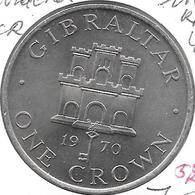*gibraltar 1 Crown 1970  Km 4 Xf+ - Gibraltar