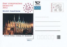 Rep. Ceca / Cart. Postali (Pre2012/51) Giornate Europee Del Patrimonio 2012; Chiesa Di Santa Barbara, Kutna Hora - Altri