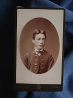 Photo CDV  Borderia à Reims - Portrait D'un Collègien, Ernest Muller Frère De Lait De Henriette Auffroy Ca 1885 L389F - Photographs