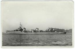 CROISEUR LEGER LE MALIN X102 Photo Marius Bar à Toulon 21 Juin 1947 - Warships