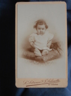 Photo CDV Letrouvé Et Lalouette Au Hâvre - Bébé, Jeanne Dechaille Vers 1895 L389F - Photos