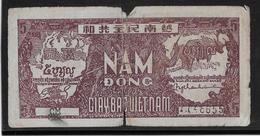 """Viêt-Nam - Giay Bac - 5 Döng - 1948 - Pick N°17 - Variété Double """"CM"""" B/TB - Vietnam"""