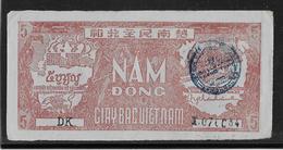 Viêt-Nam - Giay Bac - 5 Döng - 1948 - Pick N°17 Avec Cachet - SUP - Vietnam