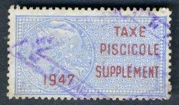Timbre Fiscal (fiscaux) De Permis De Pêche - Taxe Piscicole N° 6 - 1947 - Fiscaux