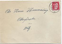 Mi. 827 (Adolf Hitler) - Auf Brief Stempel Wilz C - 29-07-1944 Nach Wiltz, Kreisjägermeister - 1940-1944 German Occupation