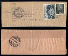 VATICANO - 40 Lire (11-Espressi) + 50 Lire (14-Aerea) - Fascetta Da Roma A Città Del Messico Del 7.4.51 - Vatikan